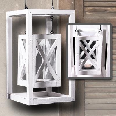 Laterne shabby design landhausstil windlicht kerze deko for Deko gartenlaterne