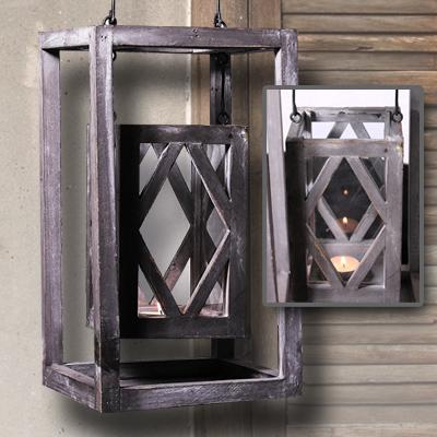 laterne shabby design landhausstil windlicht kerze deko gartenlaterne holz neu. Black Bedroom Furniture Sets. Home Design Ideas