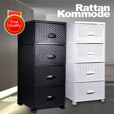 Rattanmobel Rattankommode Korbkommode Regal Wandregal Korbregal
