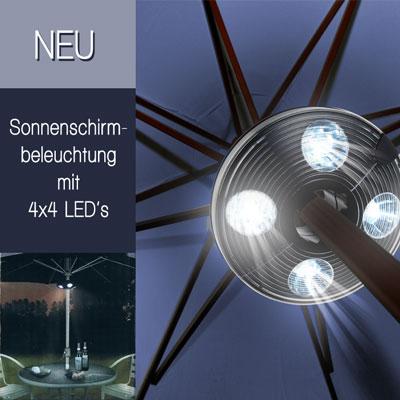 led sonnenschirmbeleuchtung sonnenschirm beleuchtung. Black Bedroom Furniture Sets. Home Design Ideas