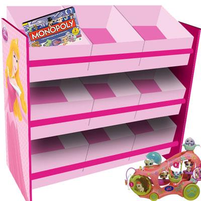 princess aufbewahrungsregal kinderm bel 9 boxen kinder regal spielzeugregal box. Black Bedroom Furniture Sets. Home Design Ideas