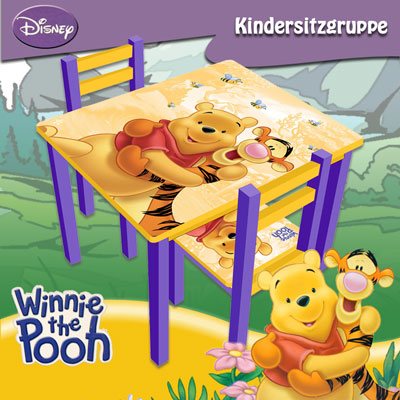 winnie the pooh sitzgruppe kindertisch kinderstuhl schreibtisch kinderm bel ebay. Black Bedroom Furniture Sets. Home Design Ideas