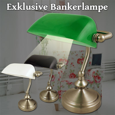 bankerlampe banker lamp schreibtischlampe tischlampe. Black Bedroom Furniture Sets. Home Design Ideas
