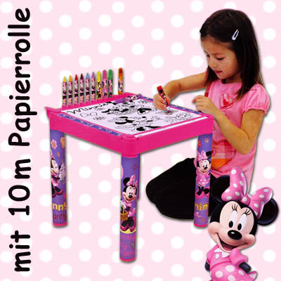 disney minnie mouse kinder maltisch kindermaltisch tisch. Black Bedroom Furniture Sets. Home Design Ideas
