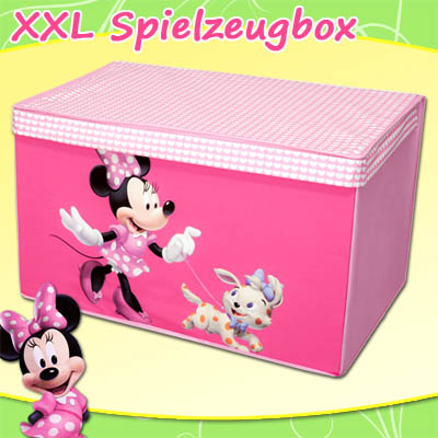 kinder spielzeugbox mit deckel spielzeugtruhe aufbewahrungsbox spielzeugkiste ebay. Black Bedroom Furniture Sets. Home Design Ideas