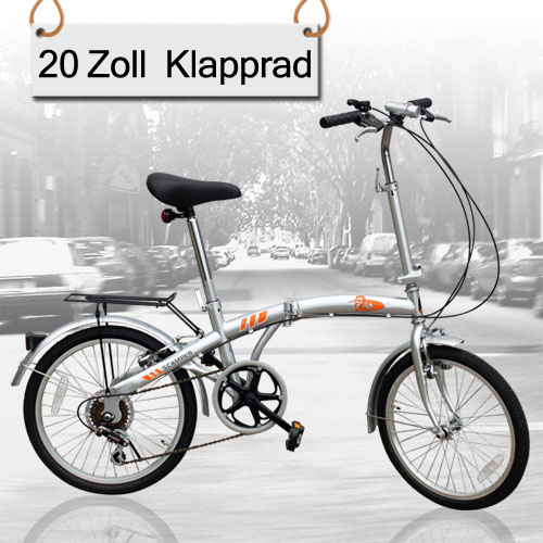 ausstellungsst ck 20 zoll klapprad faltrad klappfahrrad 6. Black Bedroom Furniture Sets. Home Design Ideas