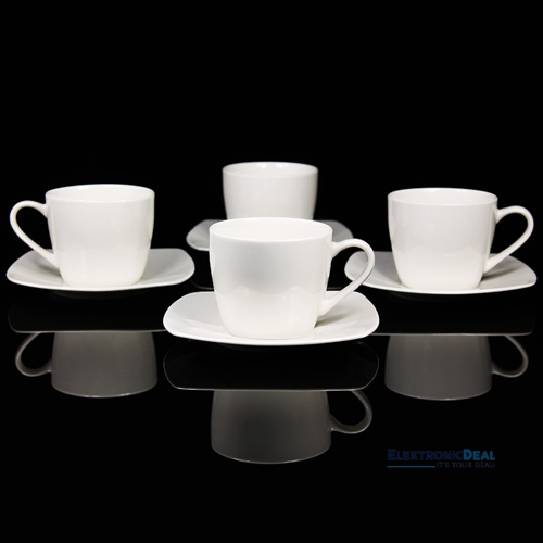 new bone china porzellan 8tlg kaffeeservice kaffeeset kaffeetasse tasse wei neu ebay. Black Bedroom Furniture Sets. Home Design Ideas