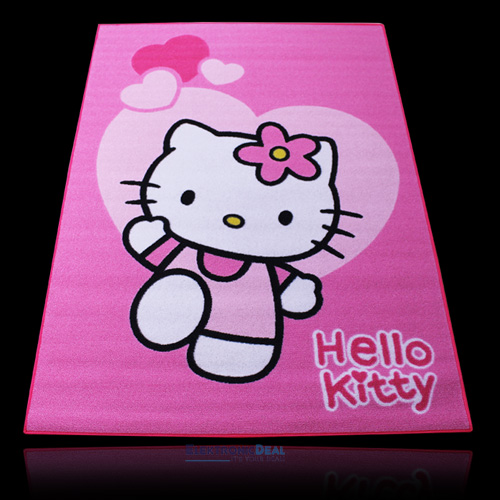 neu sanrio hello kitty kinder teppich 133x95cm katzen spielteppich kinderteppich ebay. Black Bedroom Furniture Sets. Home Design Ideas