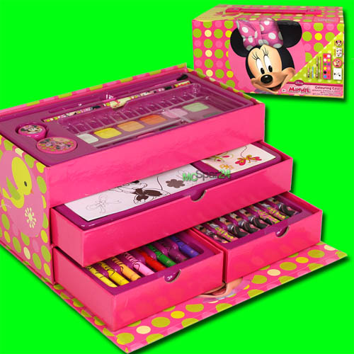 30tlg malkoffer disney minnie malkasten stifte set kinder malen zeichnen malset ebay. Black Bedroom Furniture Sets. Home Design Ideas