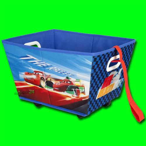 Disney cars spielzeugkiste mit rollen spielzeugbox kinder