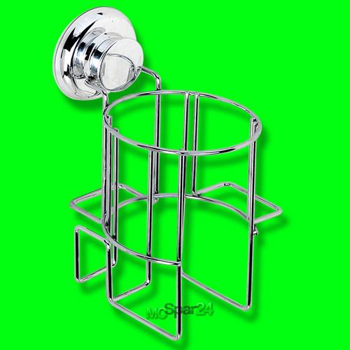 f nhalter edelstahl badezimmer f n halter halterung haartrocknerhalter saugnapf ebay. Black Bedroom Furniture Sets. Home Design Ideas