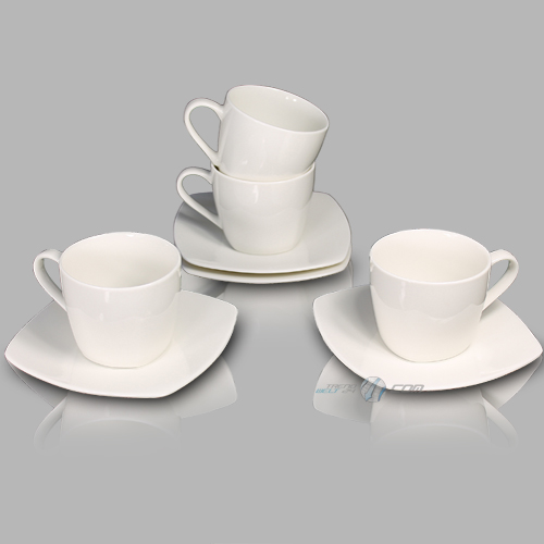 new bone china porzellan 8tlg kaffeeservice kaffeeset kaffeetasse tasse wei neu ebay. Black Bedroom Furniture Sets. Home Design Ideas