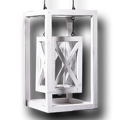 neu holz laterne shabby design landhausstil windlicht kerze deko gartenlaterne ebay. Black Bedroom Furniture Sets. Home Design Ideas