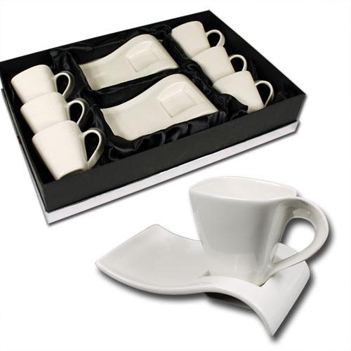 12tlg Kaffeetassen Espressotassen Set Geschirr  ~ Geschirr Set