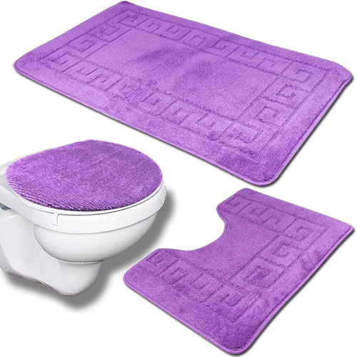 3tlg badezimmer set bad teppich badteppich duschmatte. Black Bedroom Furniture Sets. Home Design Ideas