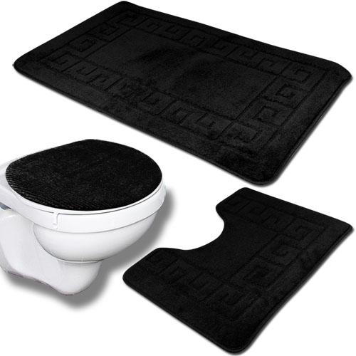 3tlg BadezimmerSet Bad Teppich badteppich Duschmatte