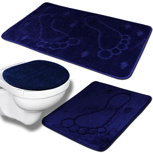 3tlg badezimmer set bad badteppich badvorleger deckelbezug wc duschmatte teppich ebay. Black Bedroom Furniture Sets. Home Design Ideas