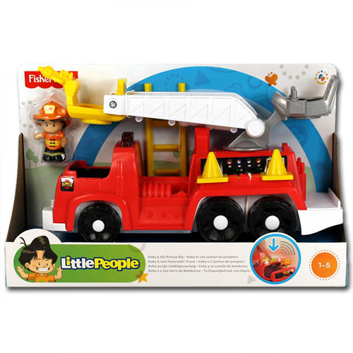 fisher price little people boot feuerwehrauto. Black Bedroom Furniture Sets. Home Design Ideas