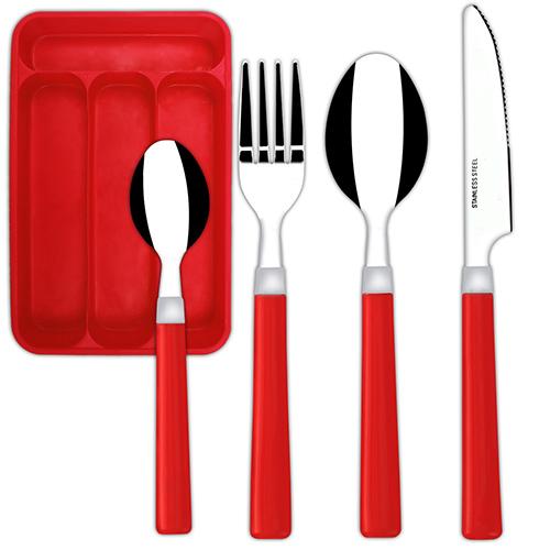 24tlg Besteckset Besteckkasten Essbesteck Besteck Messer