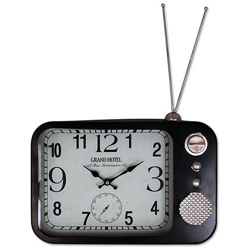 Retro wanduhr radio form vintage wohnzimmer k chenuhr wand for Dekoration wohnzimmer ebay