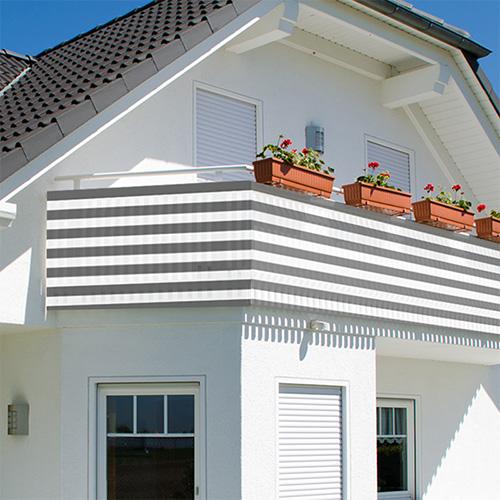balkon sichtschutz 500x90cm balkonsichtschutz windschutz balkonverkleidung neu. Black Bedroom Furniture Sets. Home Design Ideas