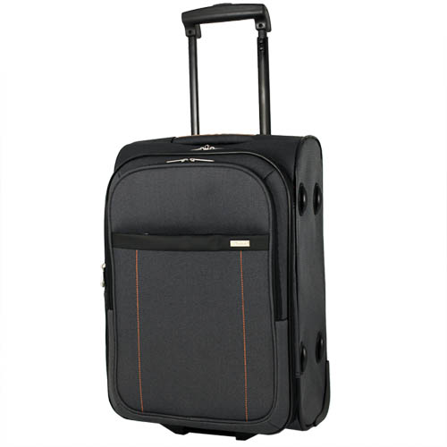 trolley reisekoffer hartschale stoff handgep ck koffer boardcase bordgep ck 40l ebay. Black Bedroom Furniture Sets. Home Design Ideas