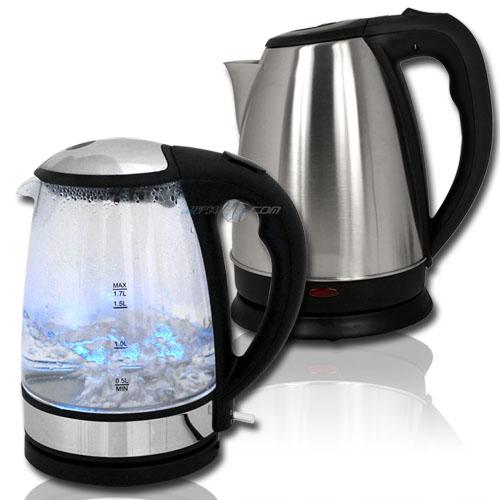 1,7L Wasserkocher Design Edelstahl Glas Schnurlos Kabellos  ~ Wasserkocher Usa