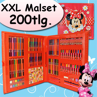 minnie mouse malset malkoffer stifte set kinder malen. Black Bedroom Furniture Sets. Home Design Ideas