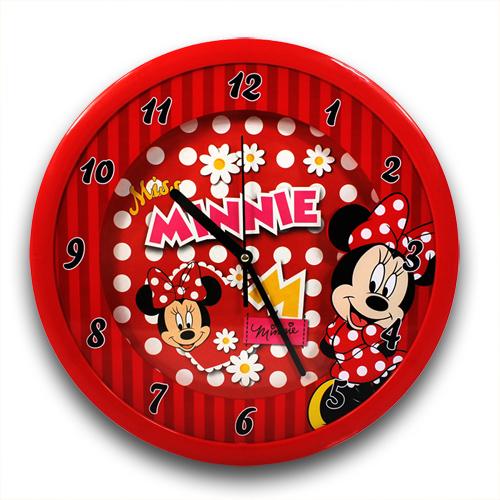 Wanduhr Uhr Holz Kinder Kinderzimmer Kinderuhr ~ zu XXL Wanduhr 36 cm Disney Minnie Mouse Maus Große Uhr Kinderuhr