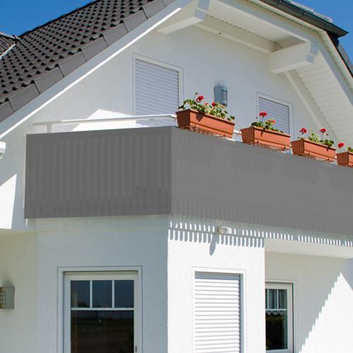 balkon sichtschutz balkonsichtschutz 600x75cm windschutz. Black Bedroom Furniture Sets. Home Design Ideas