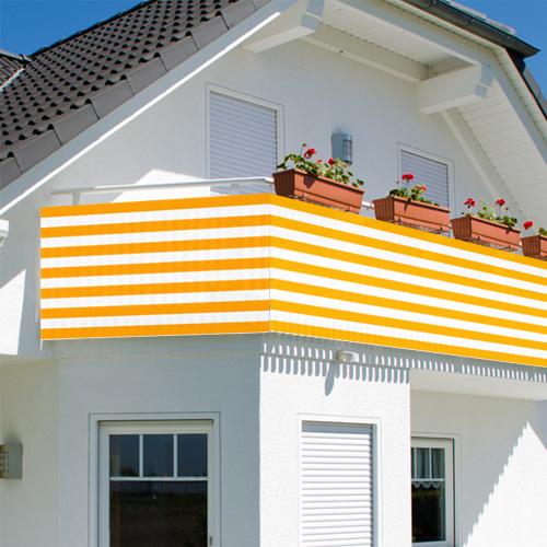 Balkon Sichtschutz Balkonsichtschutz 600x75cm Windschutz Balkonverkleidung NEU