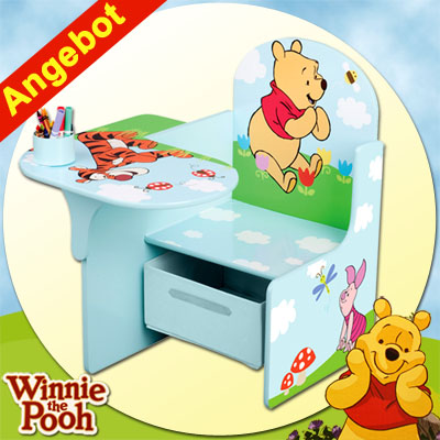 disney winnie the pooh kinderpult sitzgruppe tisch stuhl kindertisch kinderm bel ebay. Black Bedroom Furniture Sets. Home Design Ideas