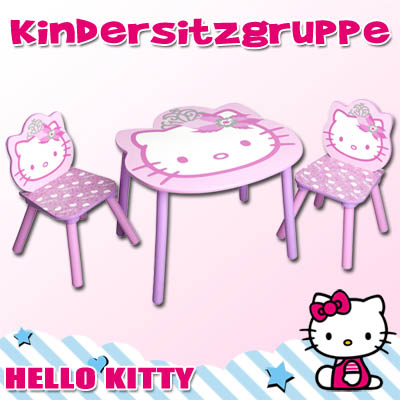 neu hello kitty kindersitzgruppe kinder m bel sitzgruppe. Black Bedroom Furniture Sets. Home Design Ideas