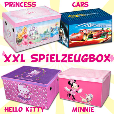 spielzeugkiste kinder spielzeugbox mit deckel spielzeugtruhe aufbewahrungsbox ebay. Black Bedroom Furniture Sets. Home Design Ideas