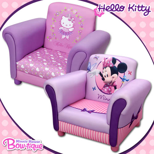 hello kitty minnie mouse kindersessel sessel m bel kinder kindersofa kindercouch ebay. Black Bedroom Furniture Sets. Home Design Ideas