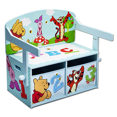 disney 3in1 kinderbank sitzbank schreibtisch kinderm bel kinder truhe holz bank ebay. Black Bedroom Furniture Sets. Home Design Ideas