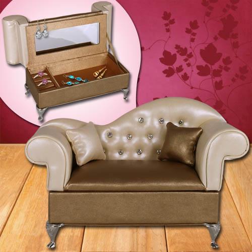 schmuckhalter ringhalter sofa schmuckkasten schmuckkoffer schmuckschatulle gold ebay. Black Bedroom Furniture Sets. Home Design Ideas
