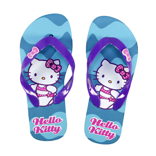 flip flops hello kitty sandalen zehentreter m dchen schuhe kinder badelatschen ebay. Black Bedroom Furniture Sets. Home Design Ideas