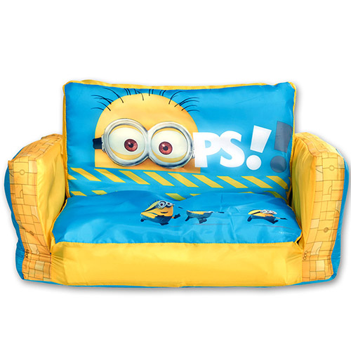 disney minions kinder sofa schlafsofa sessel couch sofabett bett kinder m bel ebay. Black Bedroom Furniture Sets. Home Design Ideas