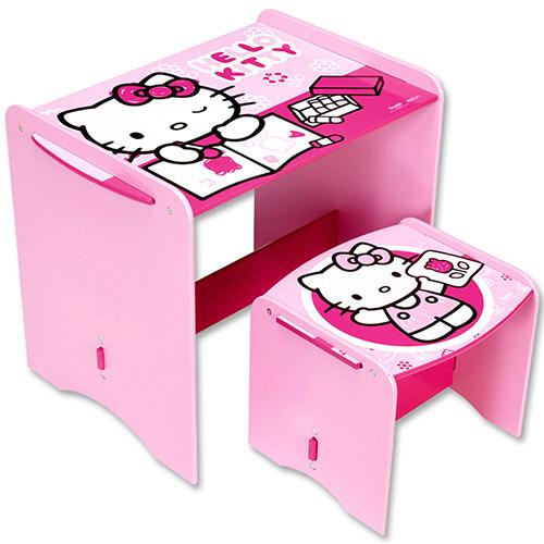 Disney Sitzgruppe Tisch Hocker Stuhl Set Schreibtisch Holz