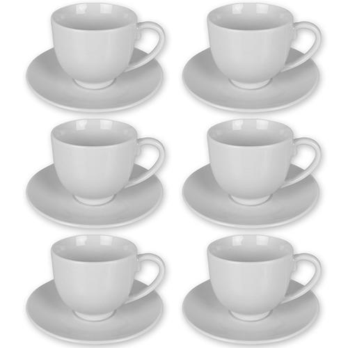12tlg tassen set kaffee cappuccino espresso tasse kaffeetasse untertasse wei ebay. Black Bedroom Furniture Sets. Home Design Ideas