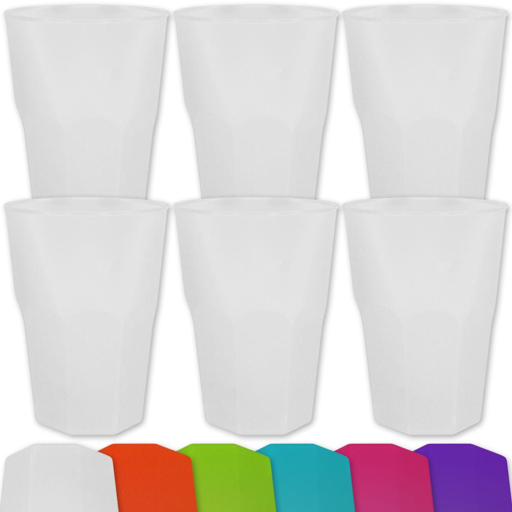 6 mehrweg cocktail gl ser becher glas party catering event. Black Bedroom Furniture Sets. Home Design Ideas