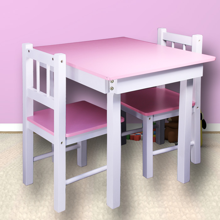 neu kindertisch mit 2 st hlen kinder st hle tisch kindertische kinder sitzgruppe ebay. Black Bedroom Furniture Sets. Home Design Ideas
