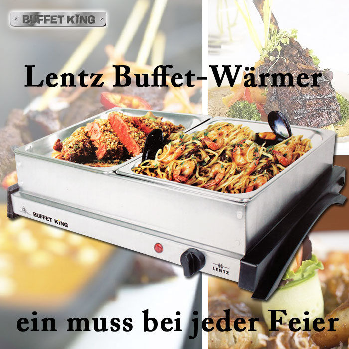 lentz buffet king speisenw rmer warmhaltebeh lter warmhalteplatte warmhaltebox ebay. Black Bedroom Furniture Sets. Home Design Ideas