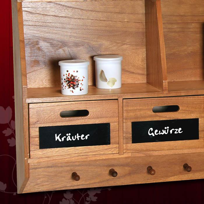 k chenschrank k chenregal regal k che wandregal gew rzregal holz landhaus braun ebay. Black Bedroom Furniture Sets. Home Design Ideas
