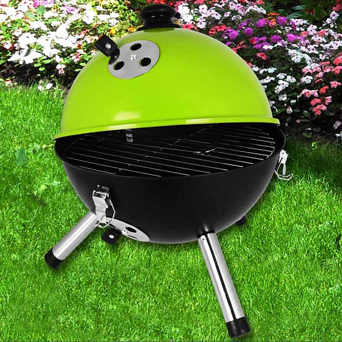mini kugelgrill bbq grill gartengrill holzkohlegrill barbecue picknickgrill neu ebay. Black Bedroom Furniture Sets. Home Design Ideas