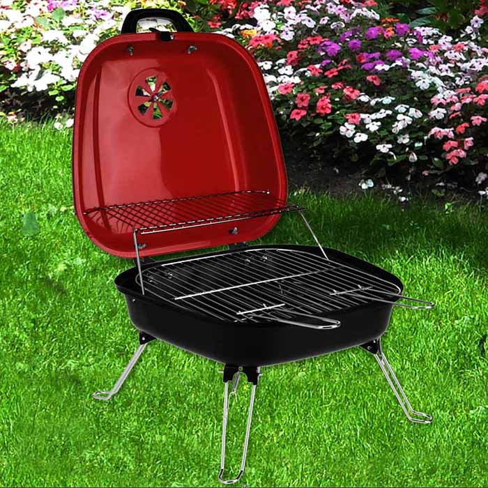 tischgrill partygrill minigrill grill garten holzkohle bbq. Black Bedroom Furniture Sets. Home Design Ideas