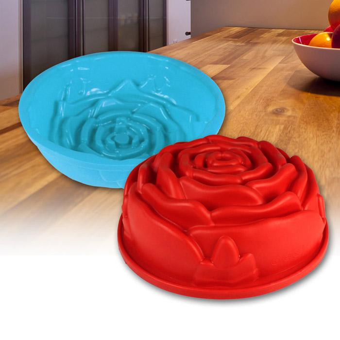 silikon kuchenform backform silikonform blume rose. Black Bedroom Furniture Sets. Home Design Ideas