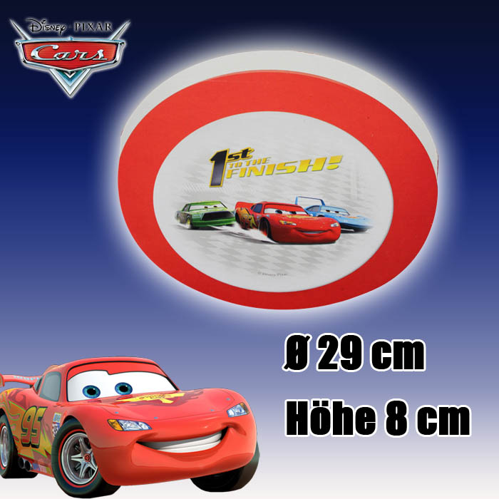Disney cars lampe kinderzimmerlampe schlummerlampe for Cars deckenlampe