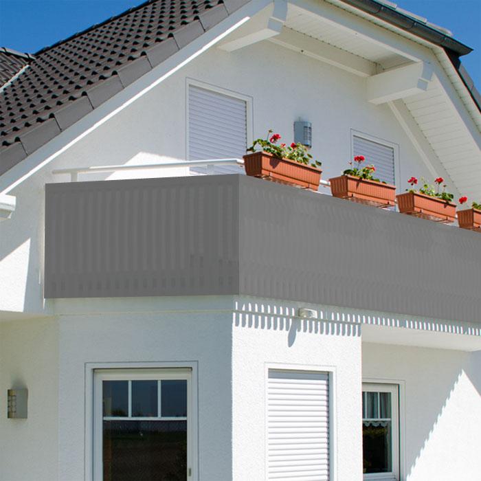 balkon sichtschutz balkonsichtschutz 600x75cm windschutz balkonverkleidung neu ebay. Black Bedroom Furniture Sets. Home Design Ideas